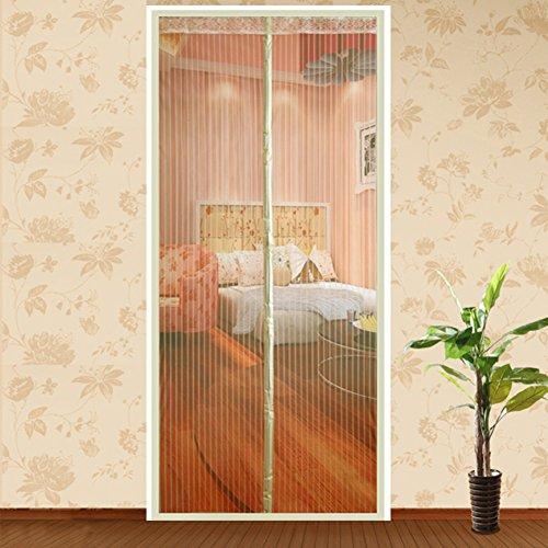 Türen mit magneten bildschirm,Velcro magnetische tür siebgewebe Türen für häuser bildschirm Sommer] Der moskito Schlafzimmer Magnetisch Einfache installation Bildschirm Tür vorhang-B 80x210cm(31x83inch)