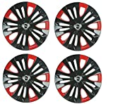 #4: Hotwheelz Dual Color Sporty 13Inch Wheel Cover - Set Of 4Pc (Press Fit)