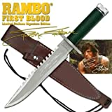 """RAMBO 1 - First Blood Part I Messer - Master Cutlery - lim. Signature Edition (Sylvester Stallone) in """"golden Box"""" *Original+NEU+OVP*"""