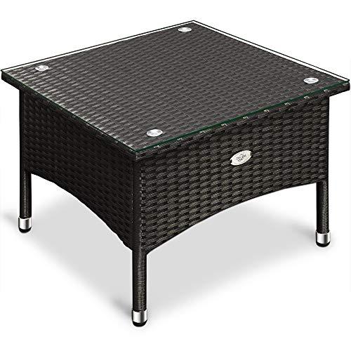Polyrattan Tisch Beistelltisch Rattan Teetisch Gartentisch Terrasse Möbel Garten