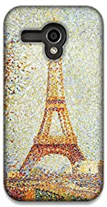 The Racoon Lean Eiffel Tower - Seurat hard plastic printed back case / cover for Moto G (1st Gen)