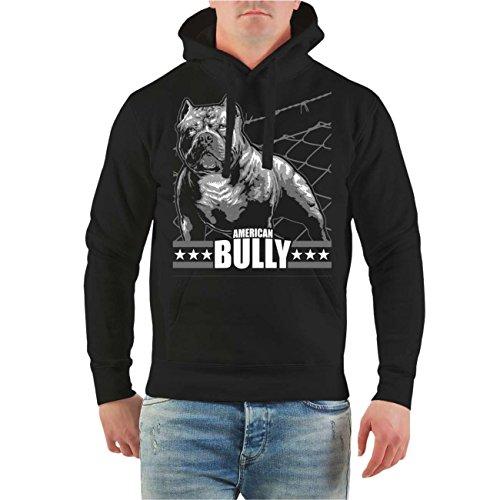 Männer und Herren Kapuzenpullover American Bully Machine Größe S - 8XL Schwarz