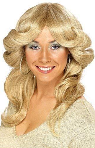 Promi Kostüm Perücken - Damen 1970s 1980s Jahre Blond Engel