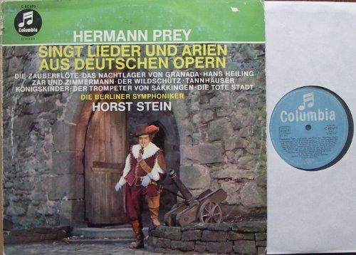 HERMANN PREY SINGT LIEDER UND ARIEN AUS DEUTSCHEN OPERN / DIE BERLINER SYMPHONIKER HORST STEIN / 1961 / Bildhülle mit ORIGINAL Firmen-Werbe-Innenhülle / Columbia # C 80675 / Deutsche Pressung / 12
