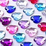9 Blätter Selbstklebend Strass Sticker Klebende Kristall Gem Blätter für DIY Handwerk Dekoration, Mehrfarbig, Quadratisch, Rund und Herzförmig