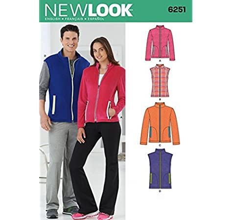 White McCalls Patterns M5252 Size XM Small- Medium Large Misses// Mens Unlined Vest and Jackets Pack of 1