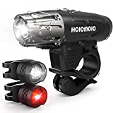 Hoicmoic Fahrradlicht LED Fahrradbeleuchtung Schwarz Standard