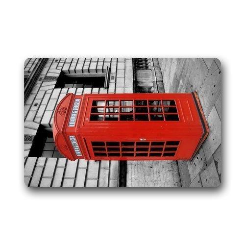 ELQSMTIR Custom British rot Telefon Home Fußmatten Top Stoff & Gummi Badezimmer Welcome Mats Fußmatte Teppich Teppiche Indoor-/Bad (59,9x 39,9cm) -