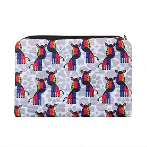 Cosmetic Organizer Bag Make-up Blumen 3D-Druck Kosmetiktasche Mode Frauen Marke Make-up Tasche Zebra -