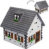 alles-meine GmbH Große Spardose -  Traumhaus - Haus / Einfamilienhaus - Dach Grau  - Stabile ..