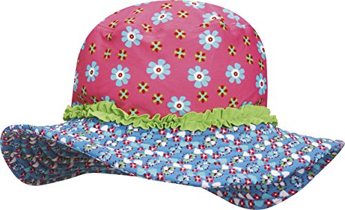 Playshoes Girl's UV Sun Protection Sun Swim Cap Flowers Hat
