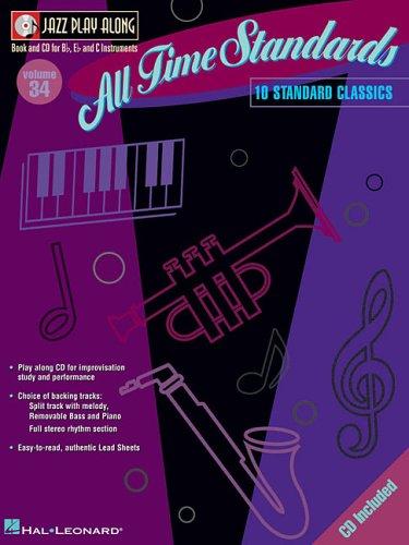 All Time Standards [With CD (Audio)] (Hal Leonard Jazz Play-Along) (Hal Leonard Jazz Piano)