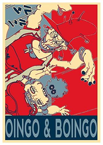 Instabuy Poster JoJo's Bizarre Adventure Propaganda Oingo & Boingo - A3 (42x30 cm)