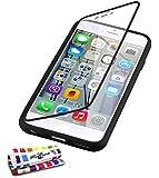 "MUZZANO Original ""Jelly Glass"" Flap Cover for Apple iPhone 6 4.7-Inch - Black"