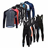 Uglyfrog HWCX01 2018 Winter Jersey Thermisches Fahrradtrikot Vlies Thermo Langarm Shirt +Long Pants with Bib Herren Breathable Radfahren Fahrrad Lange Anzüge