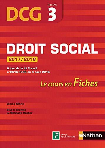 Droit social 2017/2018 - DCG 3 - Fiches