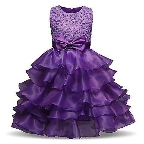 Mädchen Kleider Hochzeit Brautjungfer Chiffon Festliches Festzug Bankett Party Prinzessin Märchen Dress
