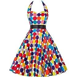 Vintage Vestido Rockabilly Retro Años 50 Vestido Coctel Vestido para Fiesta 16# S
