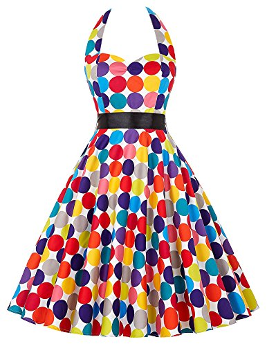 50er jahre kleid herzförmig polka dots kleid freizeitkleid damen casual kleid festliches kleid L CL6075-16 50er 60er Jahre Kleid