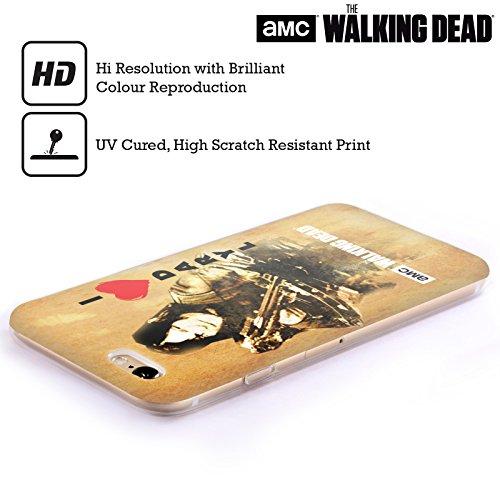 Ufficiale AMC The Walking Dead Dead Inside Tipografia Cover Morbida In Gel Per Apple iPhone 6 / 6s Daryl Arco
