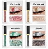 Komener Fashion Color Metallic Shiny Smoky Lidschatten Wasserdicht Glitter Liquid Eyeliner Sparkle Eyeliner Pen (06#)