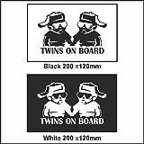 Twins On Board Baby Child Window Bumper Car Sign Decal Sticker Chap On Board