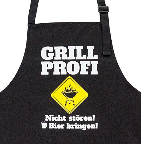 GRILLHIT X Grillschürze für Richtige Männer Grill Profi. Nicht stören! Bier Bringen! Witzige Geschenkidee für Den Mann, Hochwertige Qualität