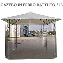 Gazebo ferro battuto for Panchina ferro battuto amazon