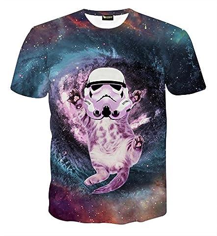 Pizoff Unisex Digital Print T Shirts mit star war 3D Muster