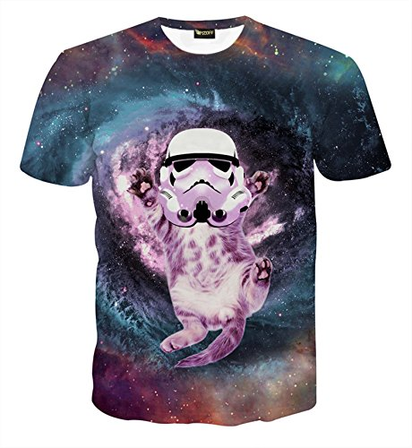 Pizoff Unisex Digital Print T Shirts mit star war 3D (Wars Star Muster)