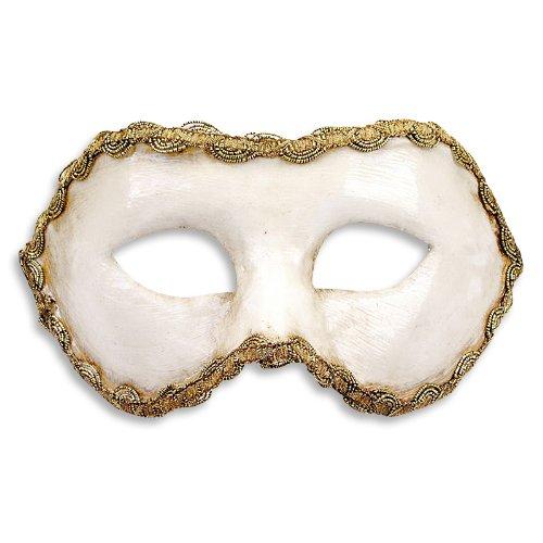 Colombina Bianca Venezianische Maske - Traditionelle Handarbeit aus Venedig (Pappmaché).