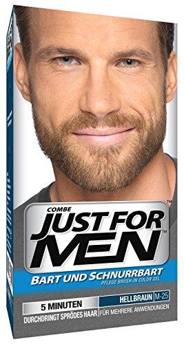 Just For Men - M25 - Pflege Brush In Color Gel für Bart, Schnurrbart, Hellbraun (Hellbraune Bart Färben)