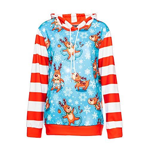 Mann Europäische Kostüm Wild - MAIMOMOO Männer Und Frauen Weihnachten Sweatshirt Weihnachten Kostüme Erwachsene Lose Wilde Kleidung Europäischen Und Amerikanischen Gedruckten Kapuzenpulli, Foto Farbe, XL