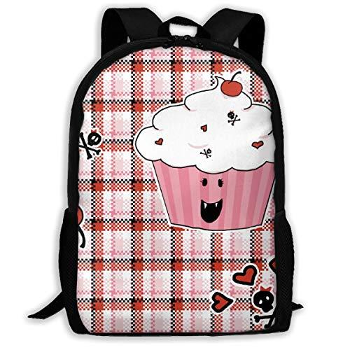 Klassischer Rucksack Cupcake Vampire_11041 Reisen Laptop Rucksack, Extra Große College School Student Rucksack für Männer und Frauen
