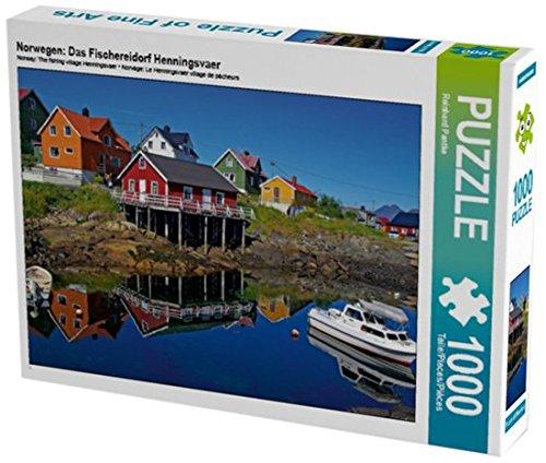 Preisvergleich Produktbild Norwegen: Das Fischereidorf Henningsvaer 1000 Teile Puzzle quer (CALVENDO Natur)