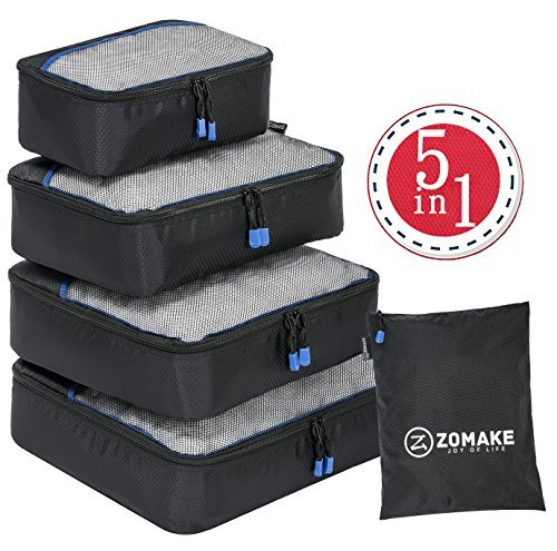 Packwürfel,packtaschen im 4-teiligen,ltra-leichte koffer organizer set Ideal für Seesäcke, Handgepäck und Rucksäcke (Handgepäck Heys)