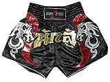 Boxsense Muay Thai Kick Boxen Hose Shorts : BXS-005-Black Size XXL