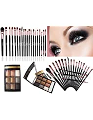 LyDia® 9 Colours Diamond Smoky Shimmer EyeShadow Palette Makeup Kit Black/White Highlight/Brown/Silver/Gold 8846-08   LyDia® Eye Makeup