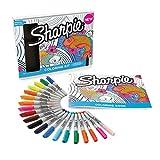 Marqueur indélébile à pointe fine Sharpie Colouring kit coleurs assorties
