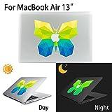 MacBook Air Aufkleber, AKPATI Haut Aufkleber Removable Leuchtender Aufkleber Skin Laptop Decal Sticker Abdeckung Abziehbild für MacBook Air 13 Zoll - Butterfly #1 Pattern