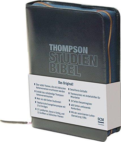 Preisvergleich Produktbild Thompson Studienbibel - ital. Kunstleder, blau, mit Reißverschluss: mit Wortkonkordanz (Cover Bild kann Abweichen)