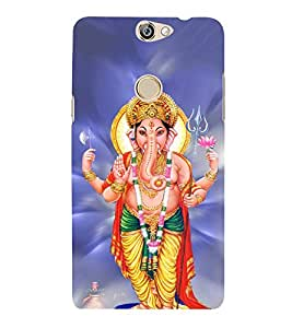 FUSON Shree Lord Ganesha Trishul 3D Hard Polycarbonate Designer Back Case Cover for Coolpad Max
