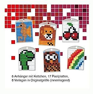 Pracht Creatives Hobby P90010-63501 - Juego de Manualidades para Manualidades (3 para 6 medallones, Llavero, para niños, niños y niñas, Ideal como pequeño Regalo, para cumpleaños Infantiles)