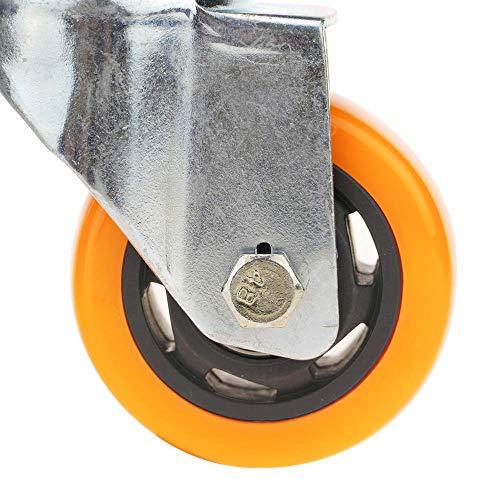 51JWT%2BJaOIL - PrimeMatik - Rueda pivotante Industrial de Poliuretano sin Freno 75 mm M12 4-Pack