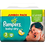 Pampers Baby dry, taille 3, 4- 9 KG, 90 couches