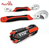 #6: MotoPanda Perfect Combo of Multi-utility tools - 2pc Set of ORIGINAL Universal Wrench + Multi-function Screwdriver Kit with 6 LED light Torch