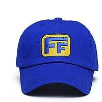 Mesky Gorra de Beisbol para Hombres Unisex Cap para Deporte Ralph Accesorio de Anime Algodón Azul