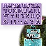 Anladia 31 Loch Vintage Muster A-Z Buchstabe & Zeichen Silikon Ausstechform Geburtstag Hochzeit Taufe Namen