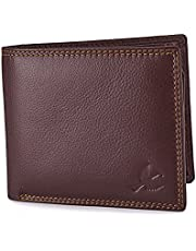 Hornbull Men's Brown Stella Genuine Leather RFID Blocking Wa