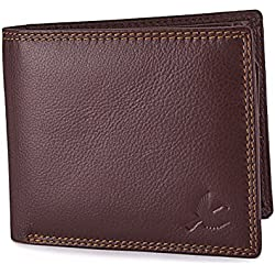 Hornbull Men's Brown Themes 100% Genuine Leather Wallet